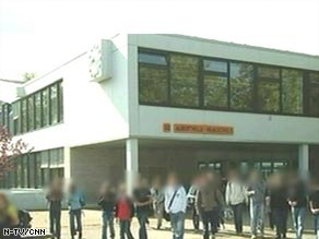 The shootings took place at the Albertville-Realschule Winnenden school.