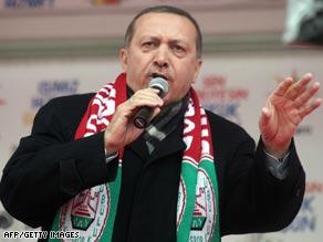 Recep Tayyip Erdogan campaigning in Diyarbakir last month.