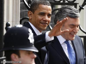 Obama and Brown want financial stimulus assurances from the G-20.