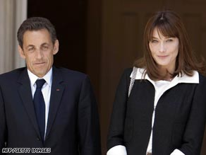Nicolas Sarkozy and Carla Bruni have played the loved-up couple for the cameras.