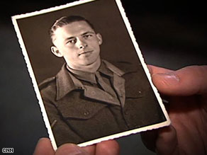 World War II veteran Jim Tuckwell as a young soldier.