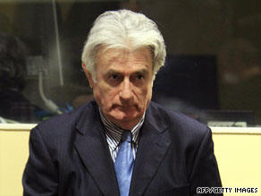 Karadzic faces 11 counts of war crimes, genocide, and crimes against humanity.
