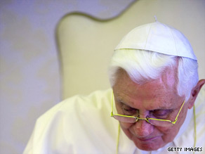 Pope Benedict XVI says modern capitalism is failing.