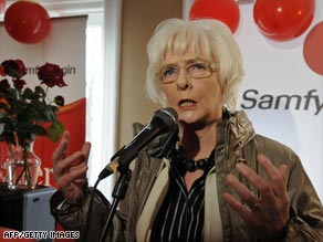 Icelandic PM Johanna Sigurdardottir pledged to take Iceland into the EU during April's election campaign.
