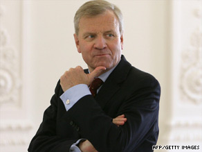 NATO Secretary-General Jaap de Hoop Scheffer steps down from his role on August 1.