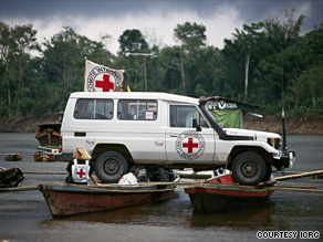An ICRC aid vehicle in Colombia in 1998. The ICRC says the conventions make its work in war zones possible.