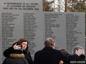 Mourners at the 20th anniversary memorial service for the victims of the Lockerbie bombing.