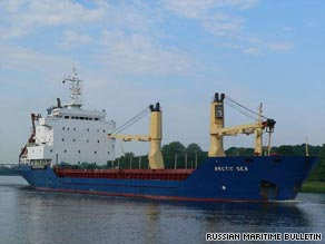 The Arctic Sea was found by a Russian Navy vessel on Monday.