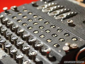 A World War II Enigma decoding machine at the British code-breaking center at Bletchley Park