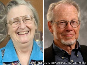 U.S. professors Elinor Ostrom and Oliver Williamson are joint recipients of the Nobel Prize for economics.