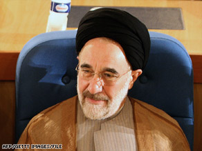 Mohammad Khatami, in a photo from October, said Sunday he is running for Iran's presidency.