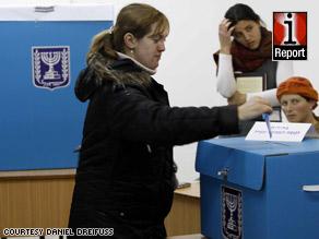 iReporter Daniel Dreifuss captured the scene as Israelis headed to the polls in Jerusalem.