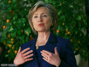 U.S. Secretary of State Hillary Clinton met with Israeli officials Tuesday ahead of a trip to the West Bank.