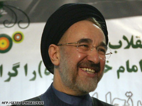 Mohammad Khatami, in a photo from February, will not run for president of Iran, the state news agency says.
