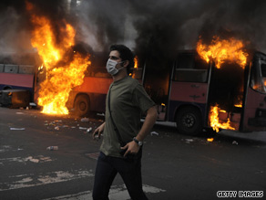 An eyewitness says the hatred is palpable on both sides in the streets of Tehran.