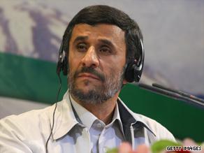 President Mahmoud Ahmadinejad holds a news conference on June 14 in Tehran, Iran.