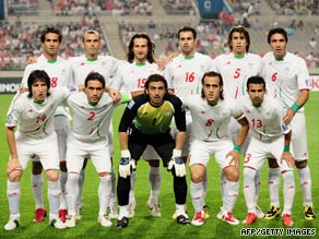 Irans soccer team wore green bands during their World Cup match in support of the protests currently going on in Iran.