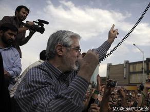 Mir Hossein Moussavi, shown Monday, spoke to a large gathering Thursday in Tehran.