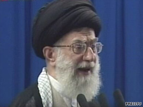 Ayatollah Ali Khamenei makes his first address since the presidential elections.