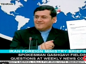 Iran's Foreign Ministry spokesman Hassan Qashqavi accused Western media outlets of targeting Iran.