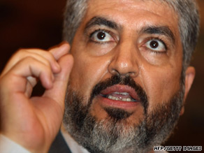 Khaled Meshaal says United States needs to take a more active role in Mideast peace process.