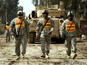Except for soldiers in advisory roles, all U.S. combat troops will leave Iraqi cities and towns by June 30.
