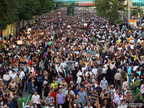 Iranians have held mass protests, such as this one on June 15, over the recent disputed presdential election.