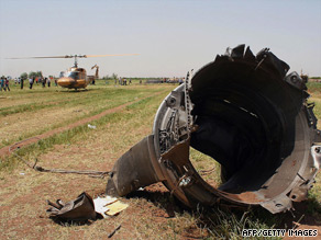 Debris from the plane was littered around the crash site.