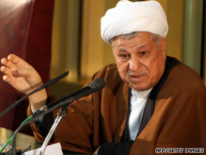 Ali Akbar Hashemi Rafsanjani delivers a Friday sermon after an eight-week absence.