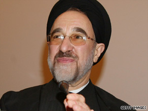 Former president Mohammad Khatami backed reformist candidate Mir Hossein Moussavi in the June 12 vote.