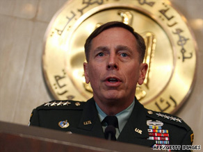 David Petraeus, the commander of U.S. forces in Afghanistan and Iraq, speaks in Cairo, Egypt, on June 29.