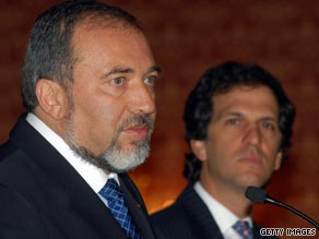 Israeli Foreign Minister Avigdor Lieberman, left,  has been the focus of a corruption investigation.