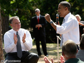 President-elect Obama has selected Virginia Gov. Tim Kaine, pictured here with Obama on the campaign trail in August, to head the DNC.