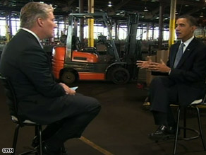 Obama sat down with CNN's John King Friday.