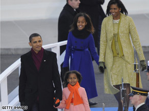 A senior aide to the president credited the family routine set up by the first lady for easing the Obamas' transition into White House life.