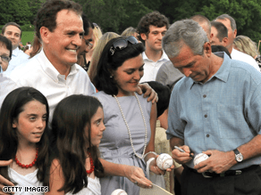 Gingrey, with his family and President Bush in 2005, represents a conservative district of Georgia.
