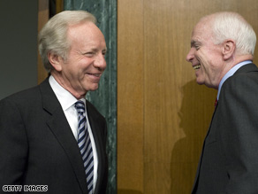 Sen. Lieberman ardently backed Sen. McCain for president but he spoke favorably about President Obama Thursday.