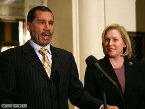 Gov. David Paterson eventually chose Rep. Kirsten Gillibrand to replace Hillary Clinton in the Senate.