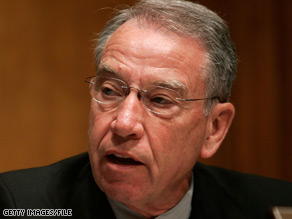 The Senate Finance Committee's top Republican, Sen. Chuck Grassley, said he had concerns about the Obama administration's vetting process.