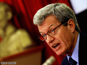 Senate Finance Committee Chairman Max Baucus released his first public statement on Tom Daschle's nomination Monday.