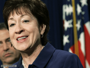 Collins is among a bipartisan group of senators seeking to rework the stimulus bill.
