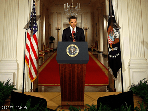 Obama is holding his first prime time news conference.