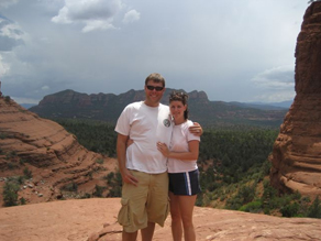 Chris and Linda Metzger in Sedona, Arizona.