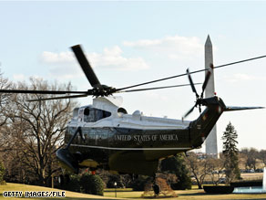 White House Press Secretary Robert Gibbs said Tuesday that the President has put on hold an order for a new fleet of presidential helicopters orginally ordered by the previous administration.