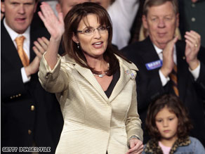 Alaska Gov. Sarah Palin leads in a new CNN/Opinion Research Corp. poll released Friday.