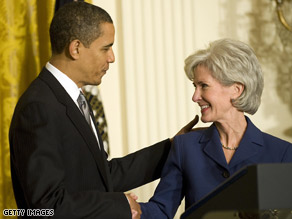 A group of Christian leaders issued a statement in support of Gov. Kathleen Sebelius, the President's choice to lead HHS.
