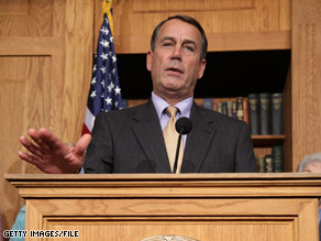 House Minority Leader Rep. John Boehner said Wednesday that Democrats were using Rush Limbaugh as a distraction.