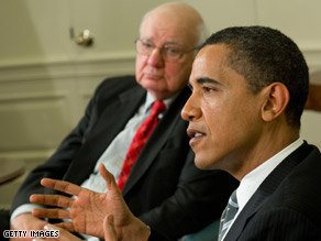 The president met with Paul Volcker Friday.