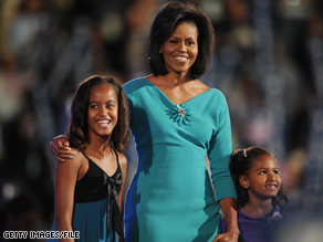 How are the Obama girls adjusting to their new life as the nation's first daughters