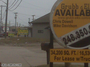 A row of industrial building for sale on Groesbeck Highway.
